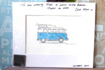 Great Kombi Artist Carol Allan. Lanis purchased 5 works from her and will no doubt purchase more next year. 