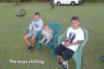 Boys chillin - ready for a fun night